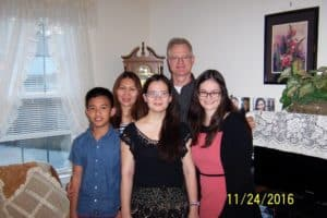 Dutch Fork Driving School driver's ed instructor Richard Zimmer and his family