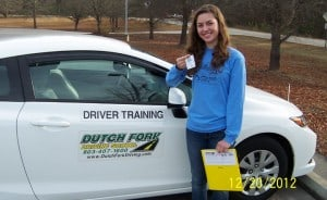 Dutch Fork Driving School Graduate